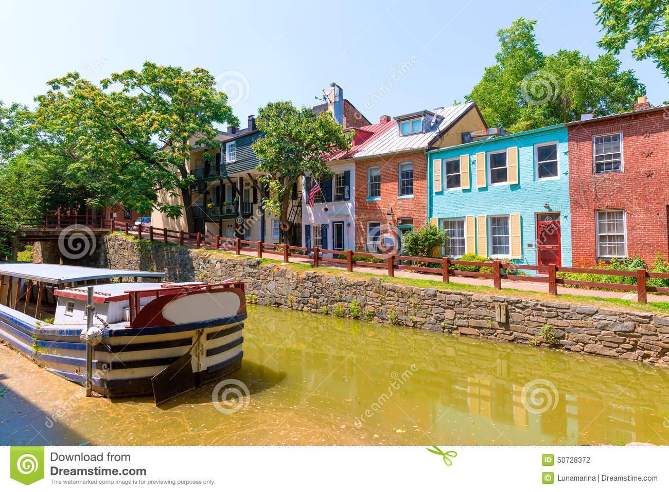 Chesapeake And Ohio Canal Lock In Washington DC Royalty Free Stock.