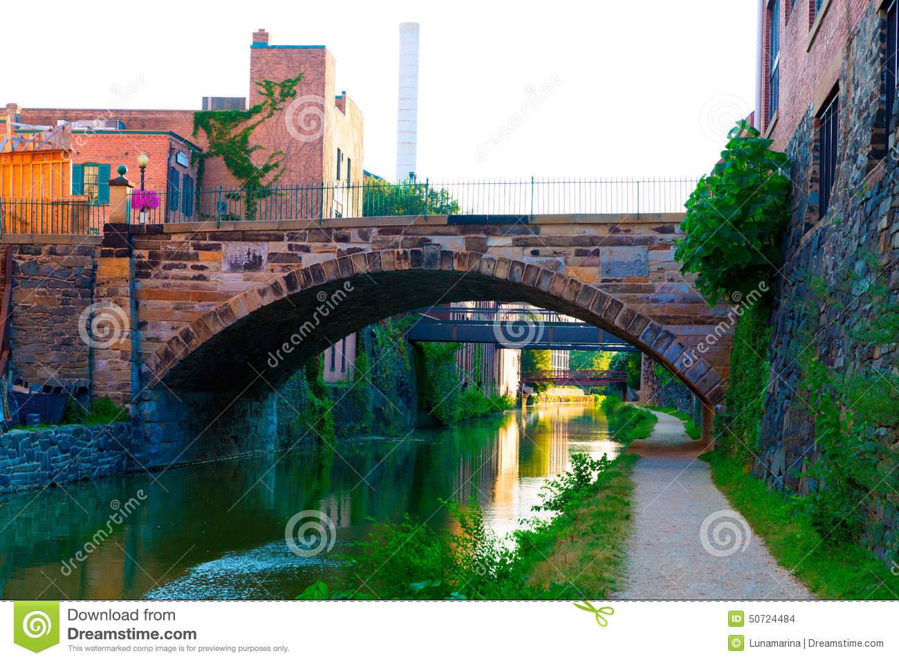 Chesapeake And Ohio Canal National Park DC Stock Photo.