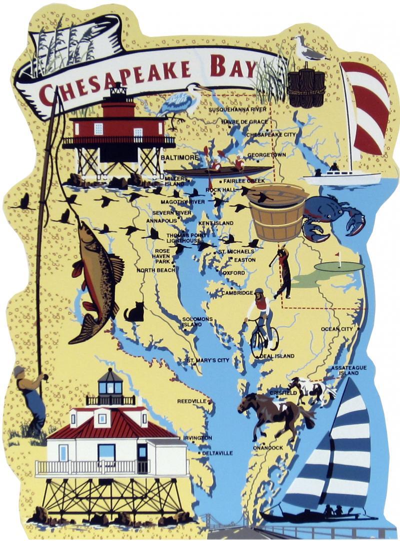 Chesapeake Bay Map.