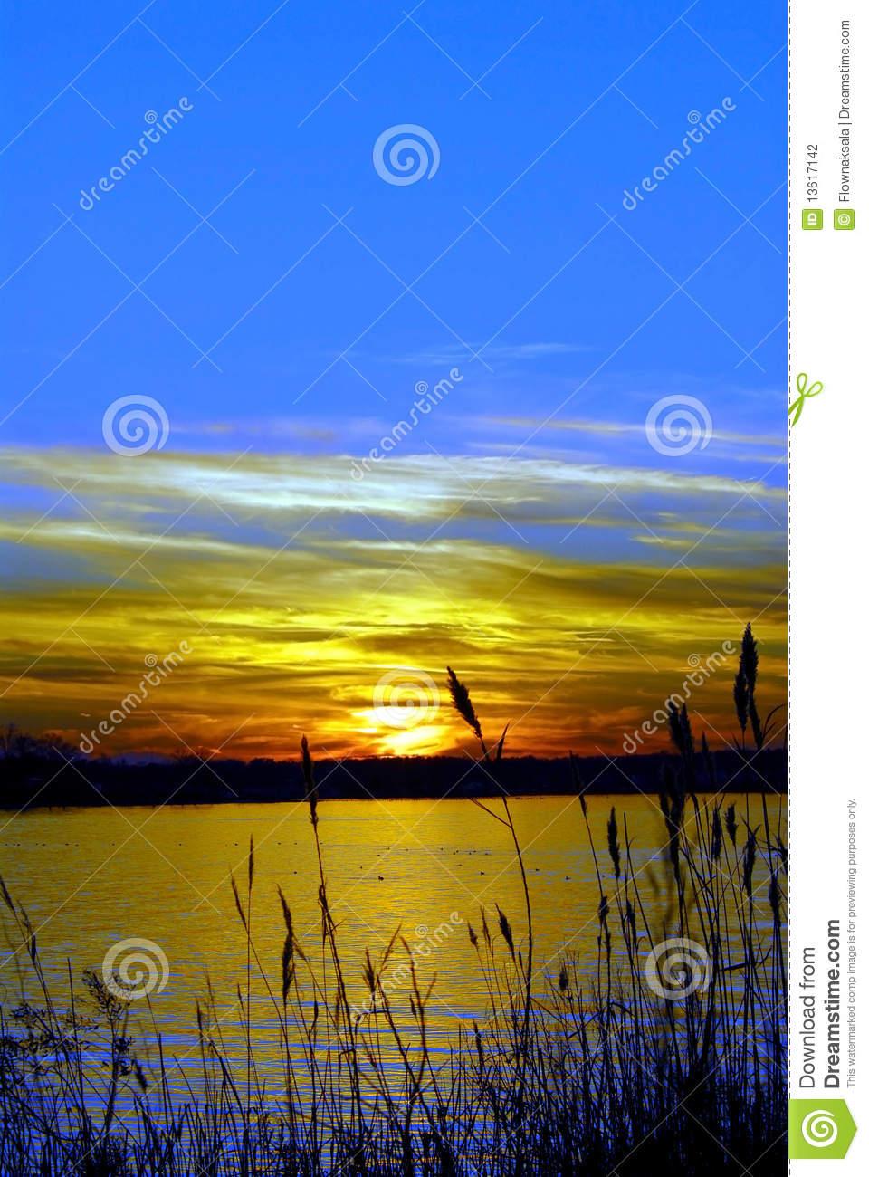 Chesapeake Bay Maryland Sunset Stock Photography.