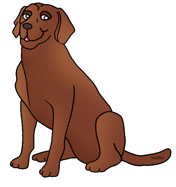 Free United States Clip Art by Phillip Martin, State Dog of.