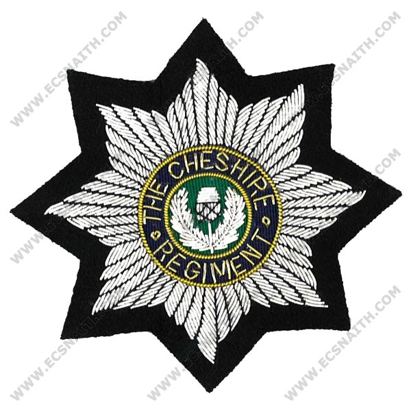 Cheshire Regiment Wire Blazer Badge.