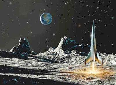 Chesley Bonestell Space Art.