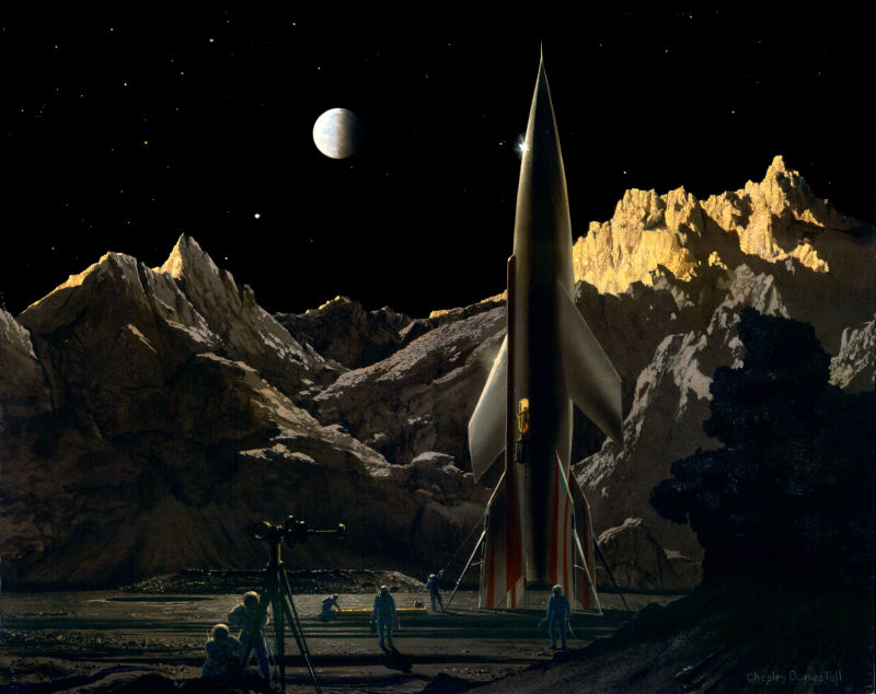 The Artist Who Helped Invent Space Travel.