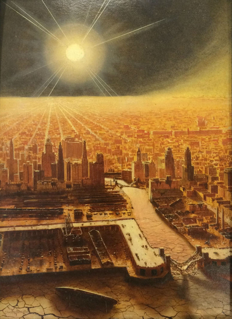 Bonestell science fiction art soars at Philip Weiss Auctions.