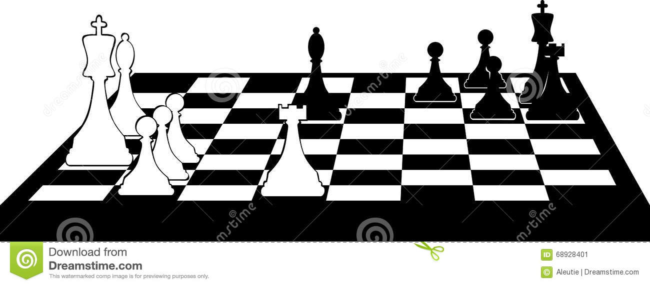 Chessboard Clip Art Stock Vector.