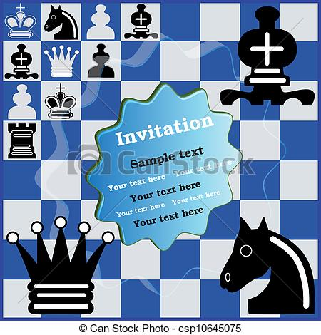 Vectors Illustration of Invitation Chess Tournament.