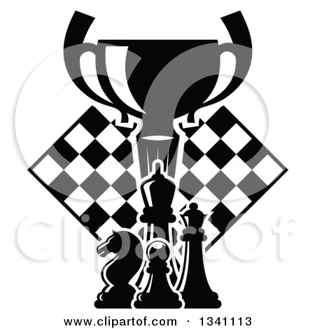 Clipart of a Gold Championship Trophy Cup in a Wreath.