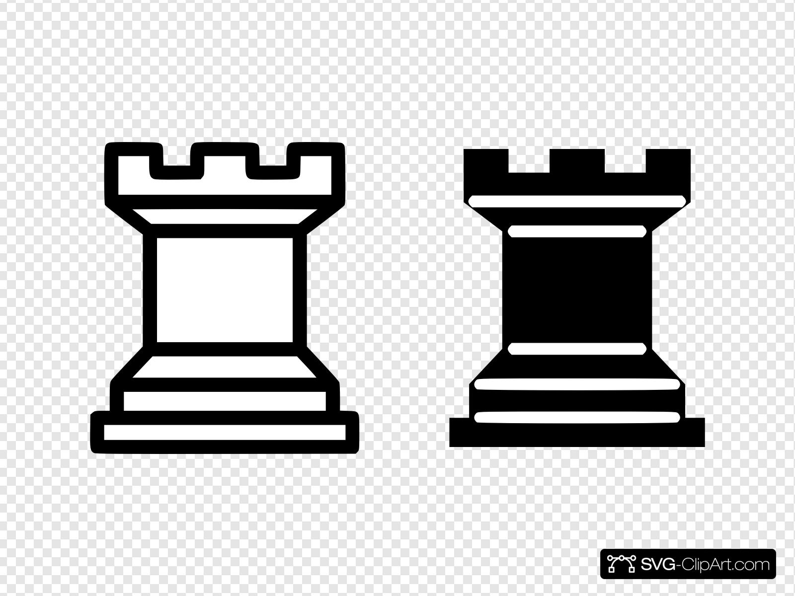Black And White Simple Chess Pieces Clip art, Icon and SVG.