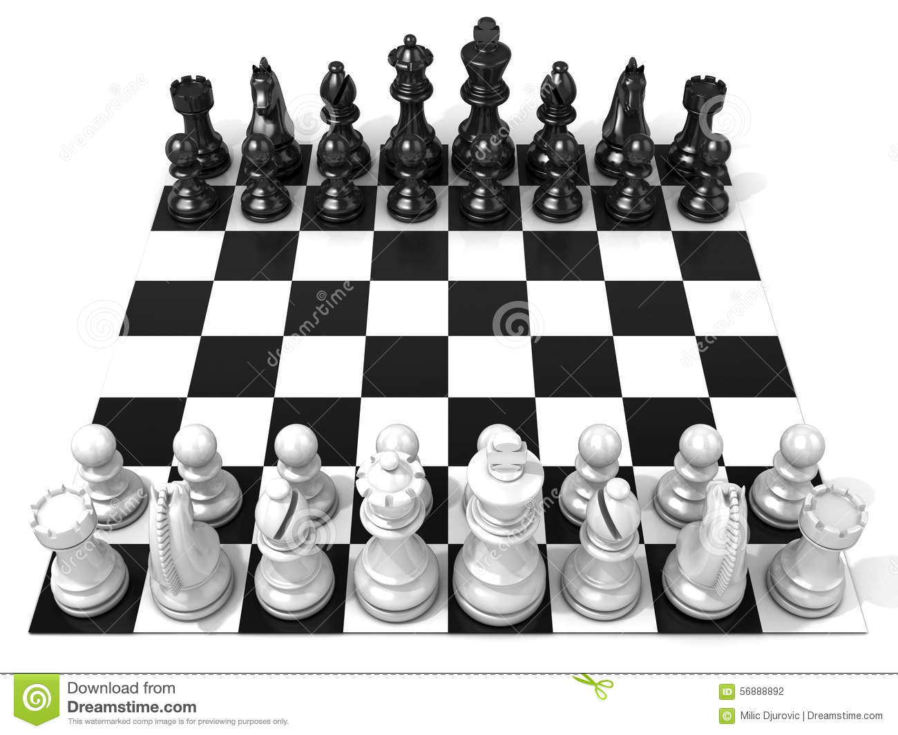 Chess Clipart Black And White.