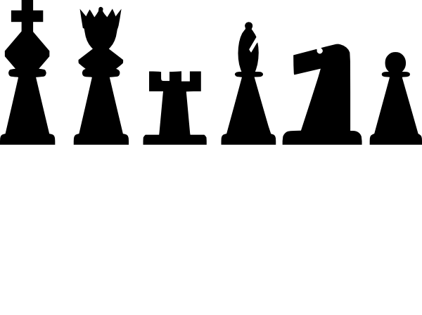 Black Chess Pieces Set clip art Free Vector / 4Vector.