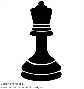 Queen chess piece clipart.