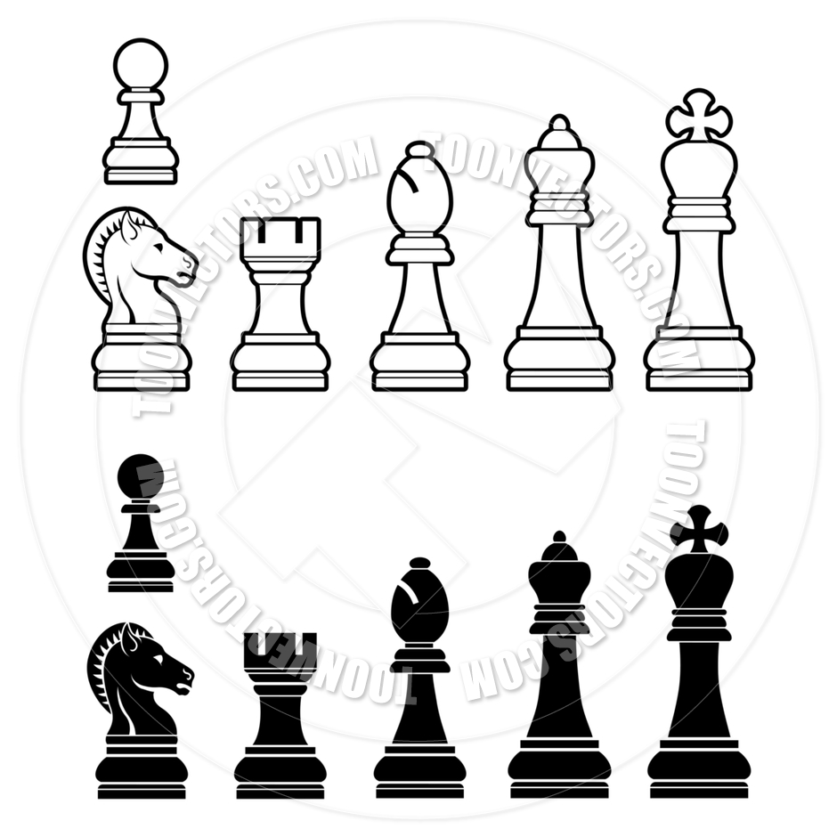 Chess Pieces Set by GeoImages.