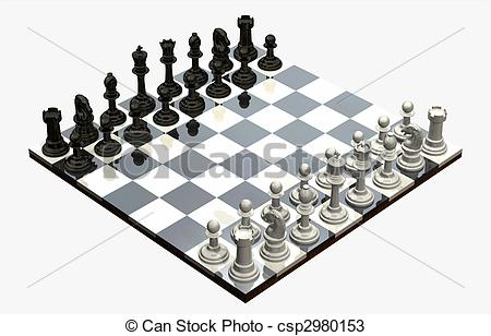 Drawings of Chess Game.