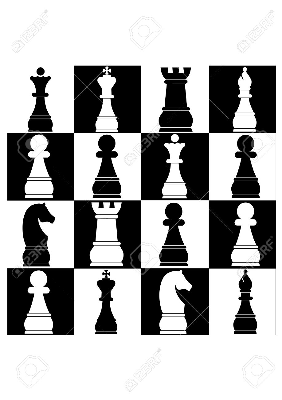 Fancy chess game clipart images.