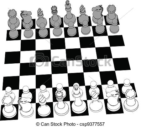 Chess game clipart images.