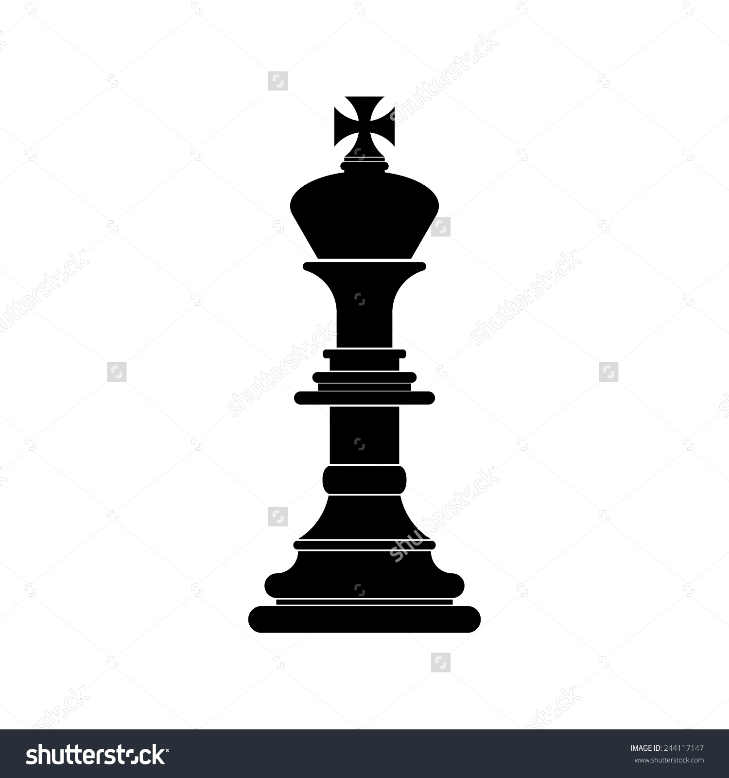 Chess King Icon Vector Stock Vector 244117147.
