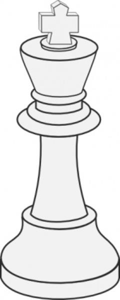 White King Chess Clip Art.