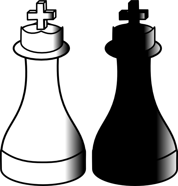 King And Queen Chess Clipart.