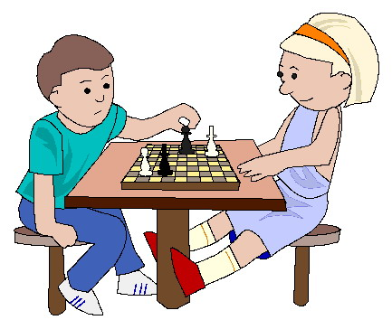 2 people playing chess clipart.