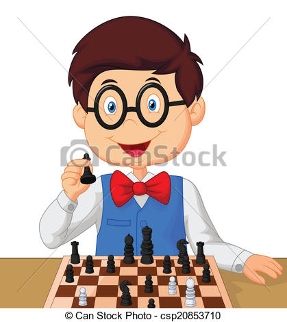 Clipart person playing chess.