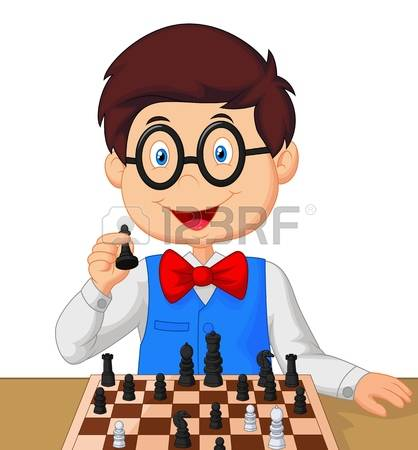 Chess player clipart #2