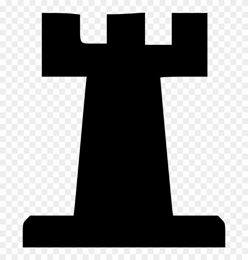Free Vector Chess Set Rook Clip Art.