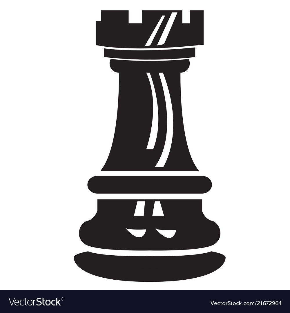 Isolated rook chess piece icon.