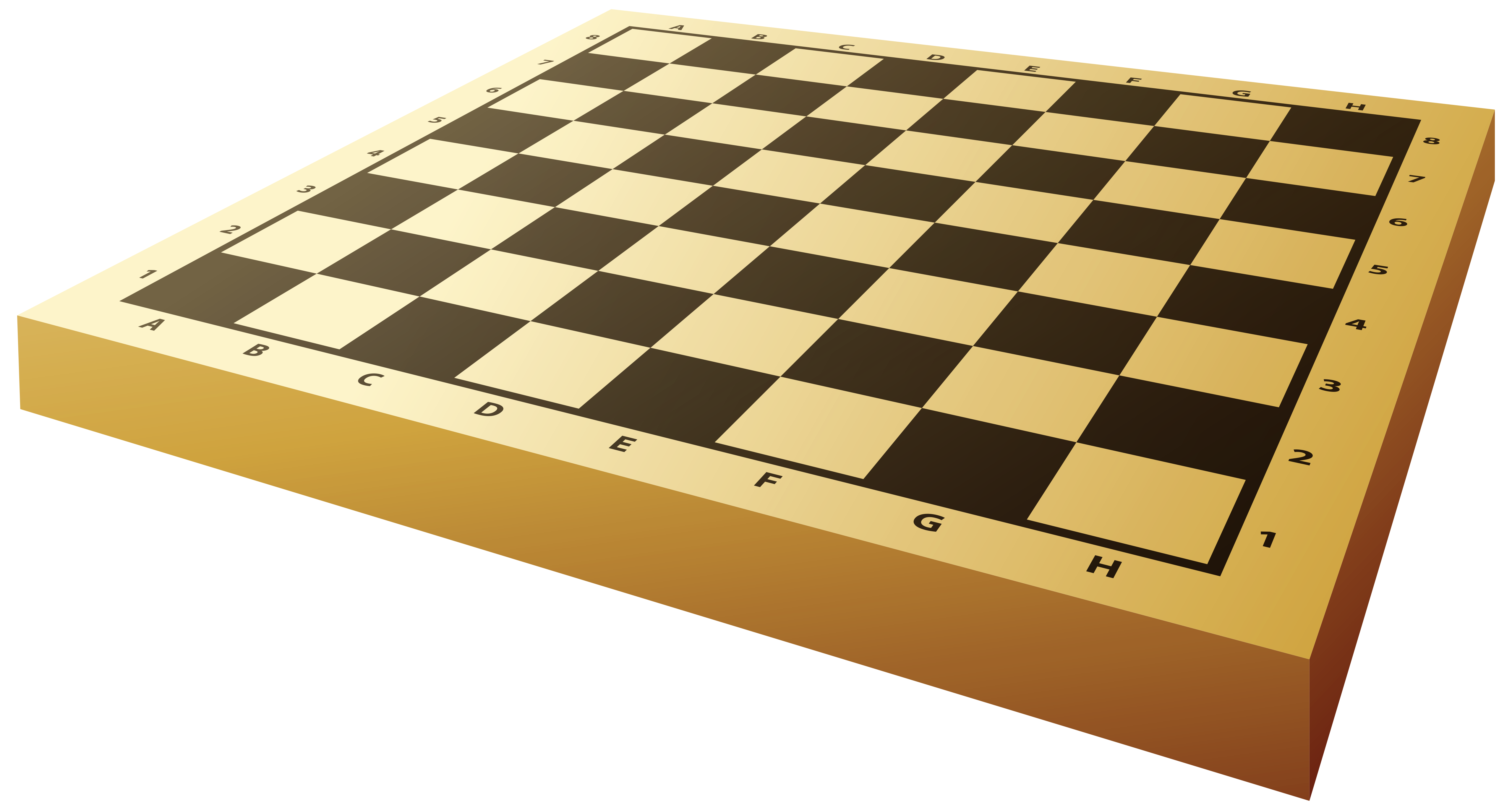 Empty Chessboard PNG Clipart.