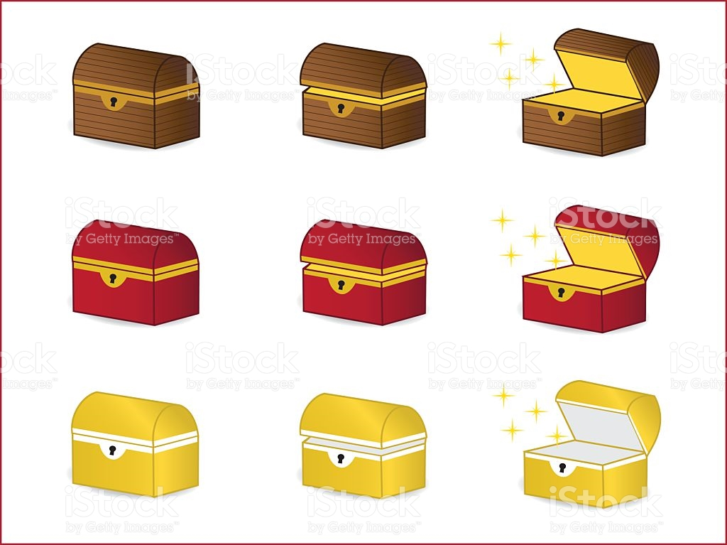 Wooden Chest Treasure Chest Red Chest Golden Chest Mystery Box.