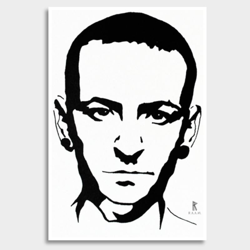 Chester Bennington Ink Giant Poster.
