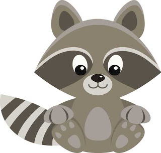 Chester raccoon clipart.