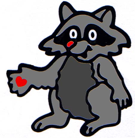 Chester The Raccoon Clipart.