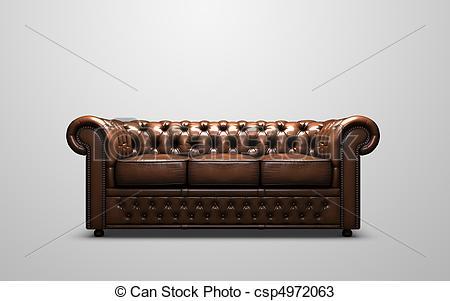 Stock Photos of Chesterfield sofa.