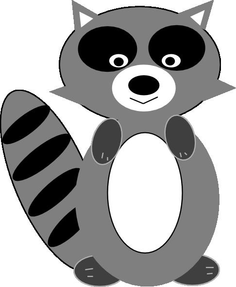 Chester raccoon clipart.