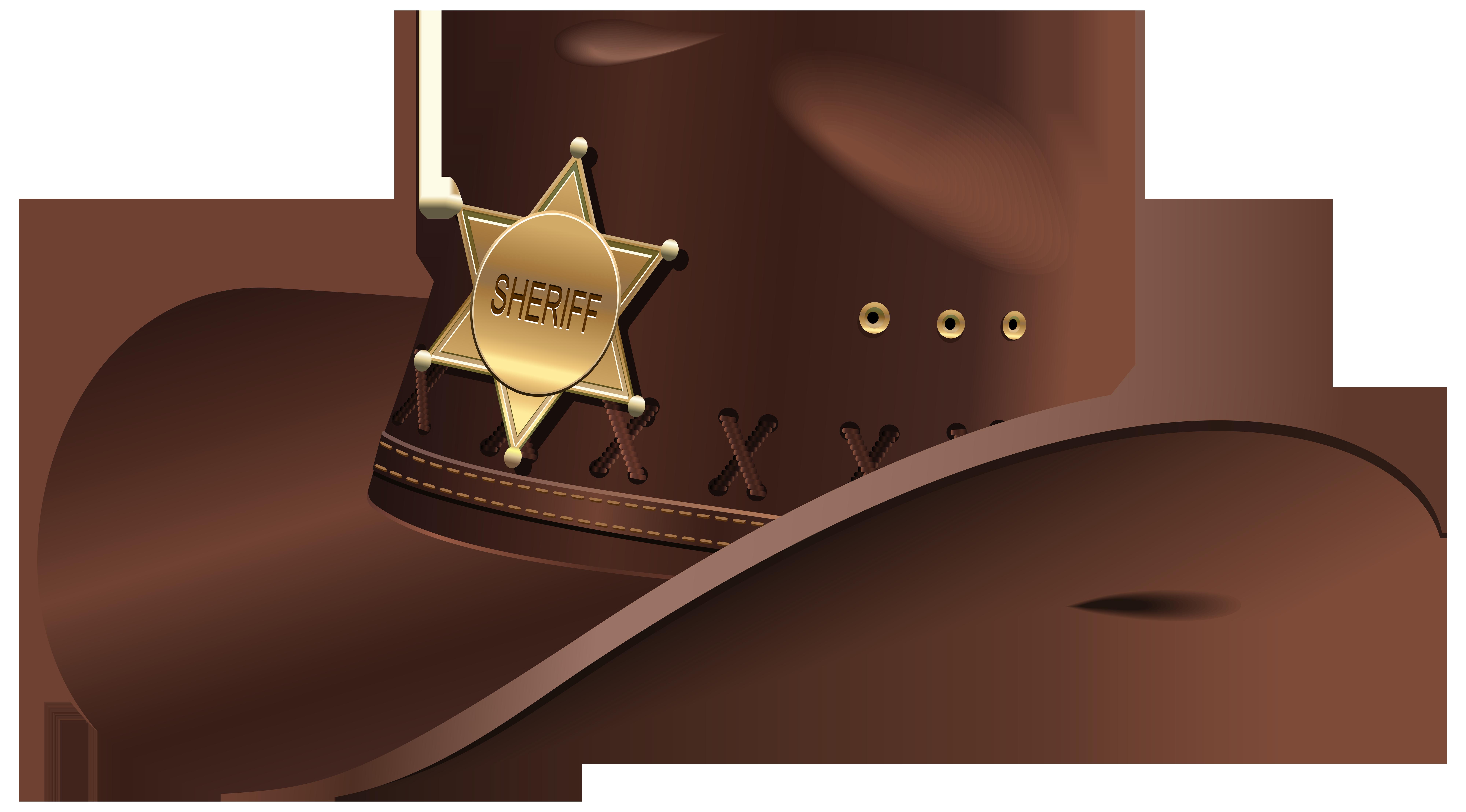 Sheriffs Hat PNG Clip Art.