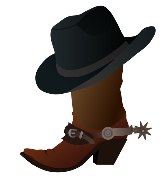 Cowboy Boot and Hat by gnokii.
