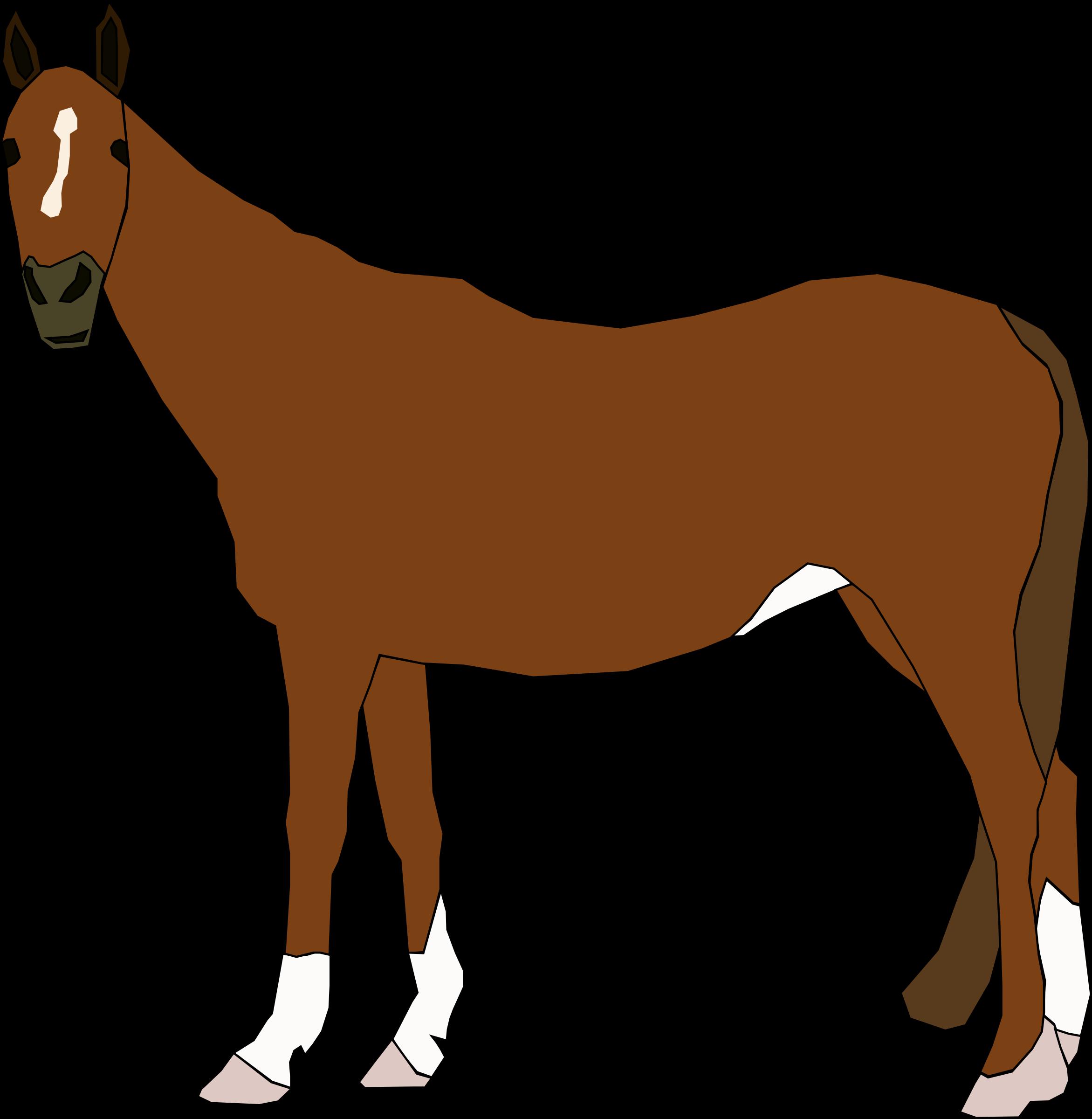 Chestnut Horse vector clipart.