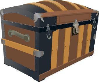Treasure chest clip art at clker vector clip art.