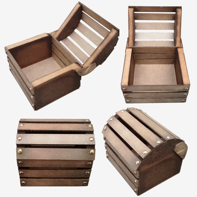 Wooden Chests Package, Craft Wood, Craft Box Wood, Box Wood PNG.