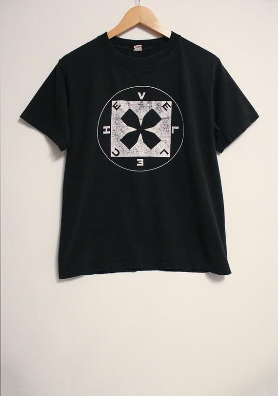 Vintage Chevelle Band Logo Black and White Soft Thin T.
