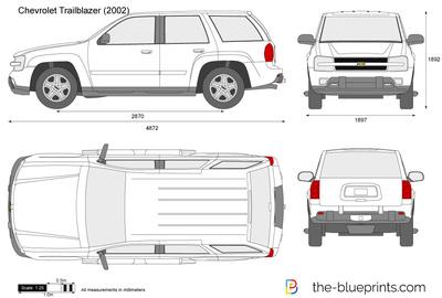 Chevrolet Trailblazer vector drawing.