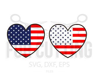 American Flag Monogram SVG, 4th of July SVG, Chevron Flag Svg.