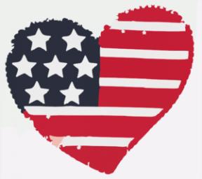 Egypt Heart Flag Clipart.