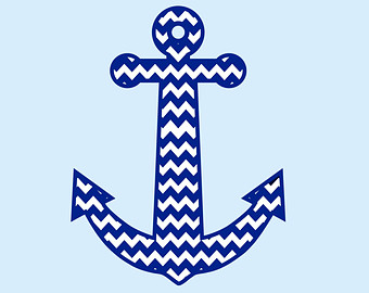 Chevron Anchor Clipart.