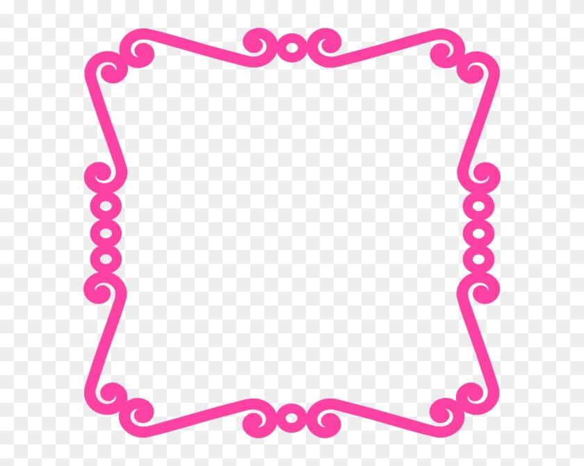 Pink Chevron Border Clip Art.