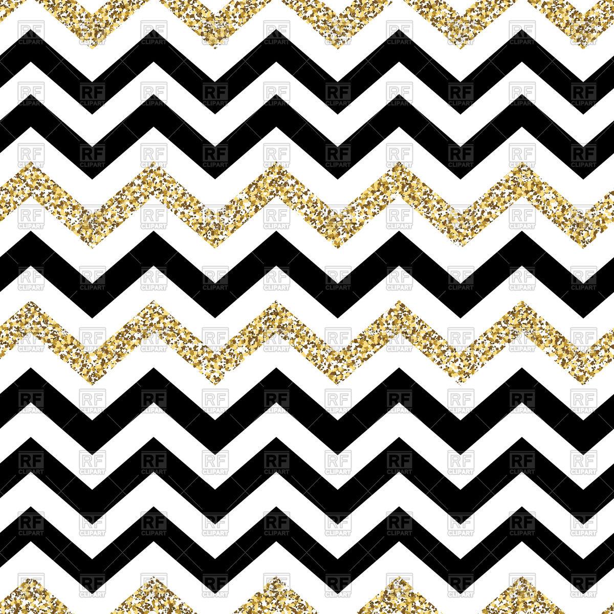Chevron seamless pattern. Glittering golden surface Stock Vector Image.