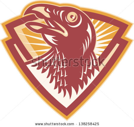 Eagle Mascot Chevron Sticker Logo Vector Stock Vector 614474669.
