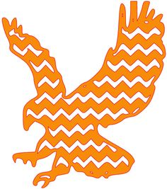 AUBURN UNIVERSITY EAGLE OUTLINE.