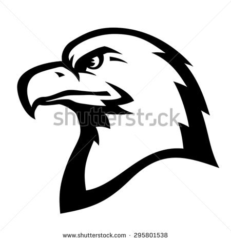 Stylized Illustration American Eagle Bald Eagle Stock Vector.